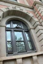 Old Treasury Building Perth double hung window painted black