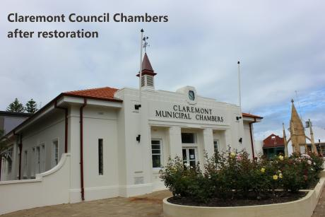 Claremont council chambers following restoration