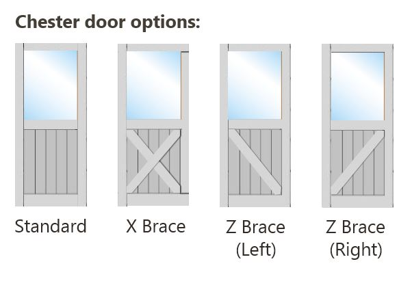 Bracing Options for Chester Door