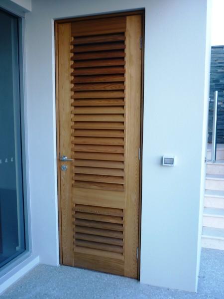 Louvre timber door