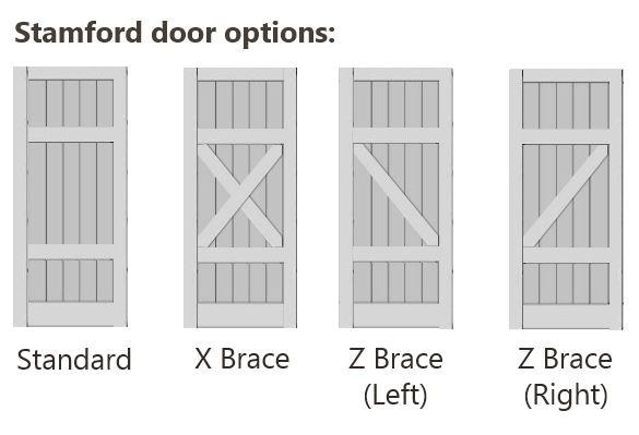 Bracing Options for Stamford Door