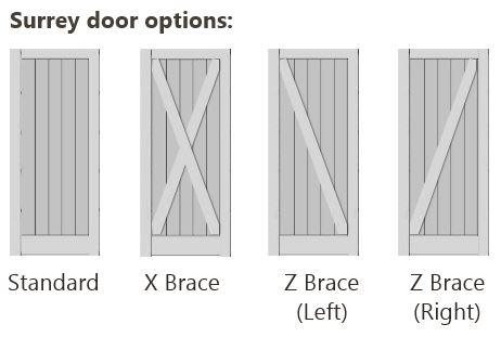 Bracing Options for Surrey Door