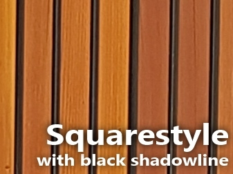 Squarestyle timber lining with black shadowline