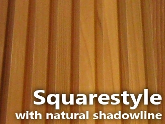 Squarestyle lining with natural shadowline