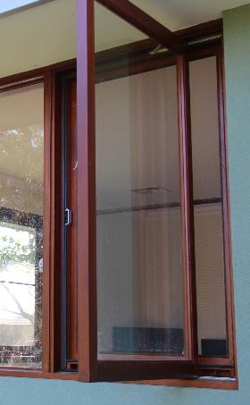 "Casement window with ""easy clean"" design"