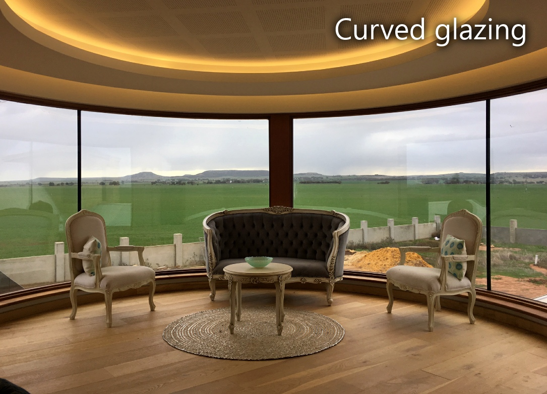Curved glazing
