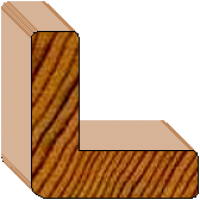Prefinished Cedar External Corner Trim - 35 x 35 x 10